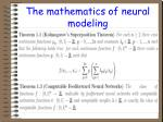 the mathematics of neural modeling