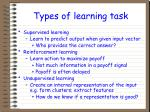 types of learning task