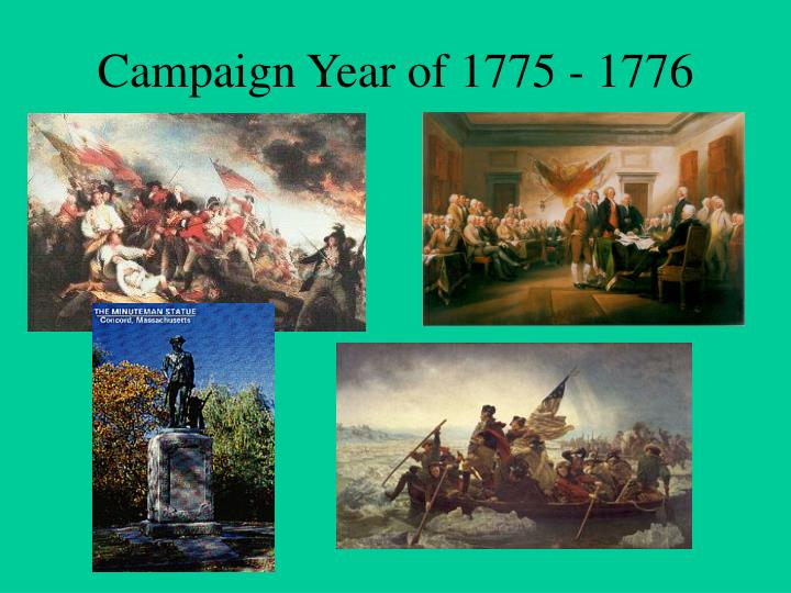 campaign year of 1775 1776 n.