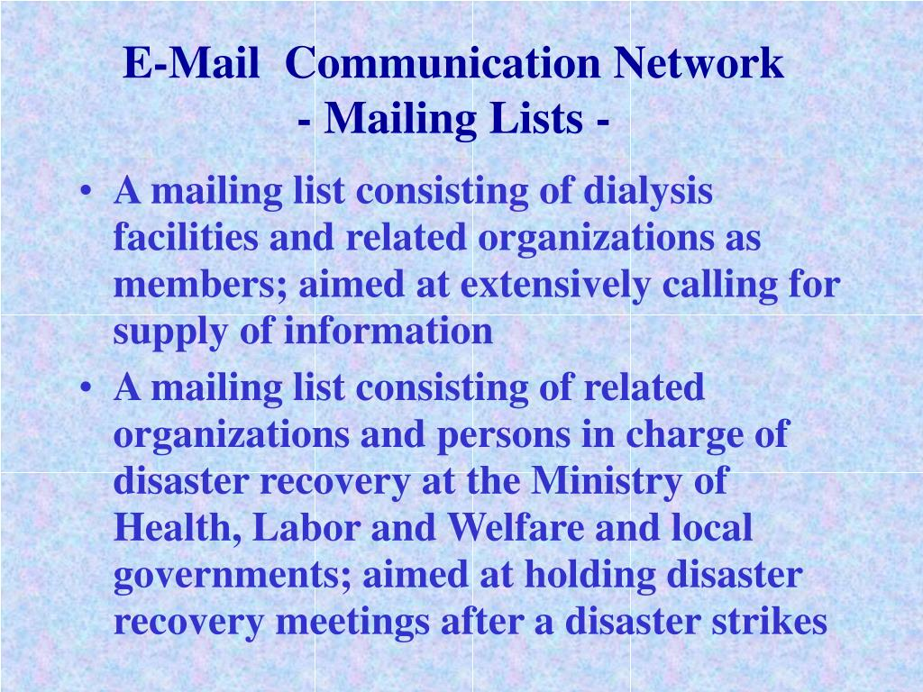 E-Mail  Communication Network