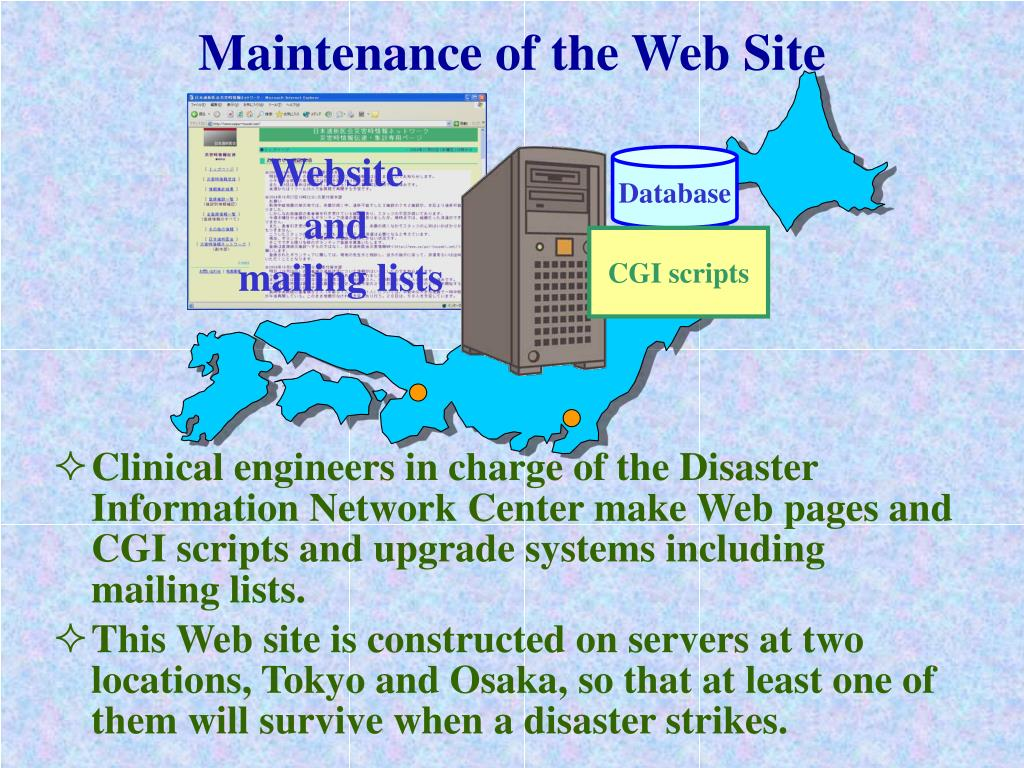 Maintenance of the Web Site