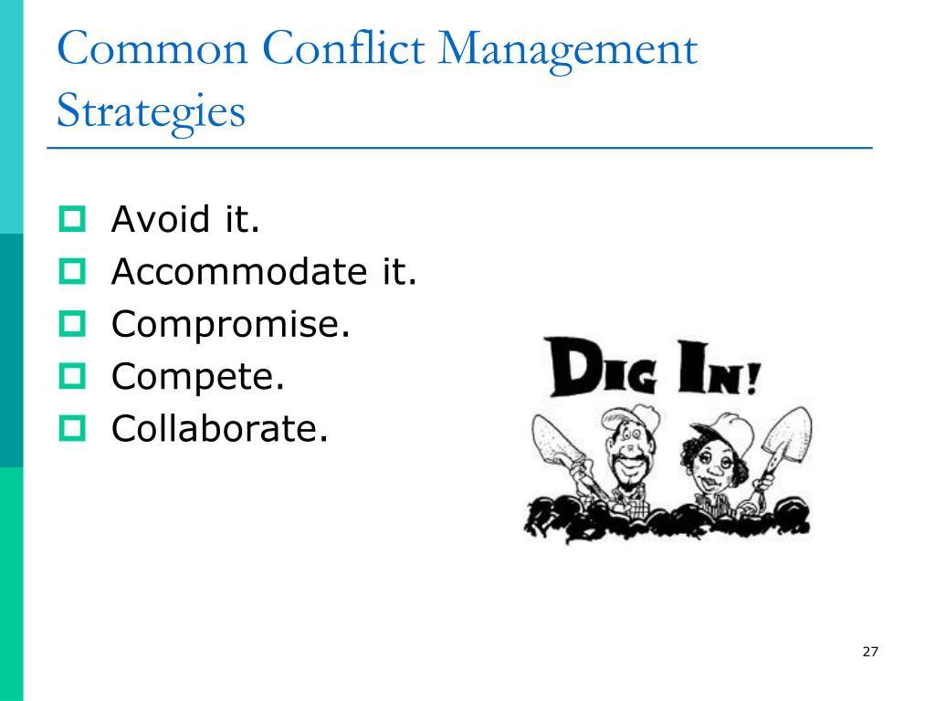 Common Conflict Management Strategies