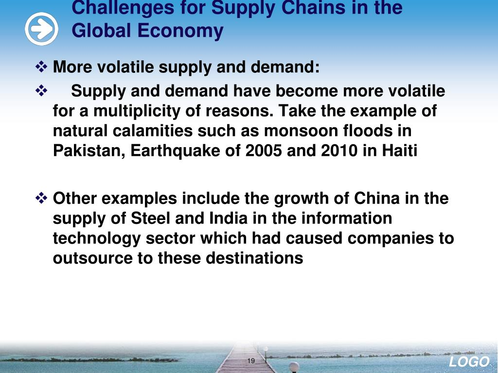 Challenges for Supply Chains in the Global Economy