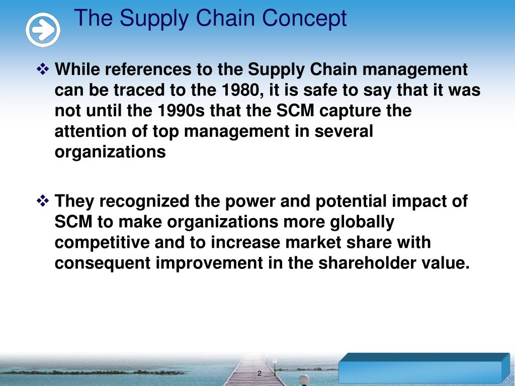 The Supply Chain Concept