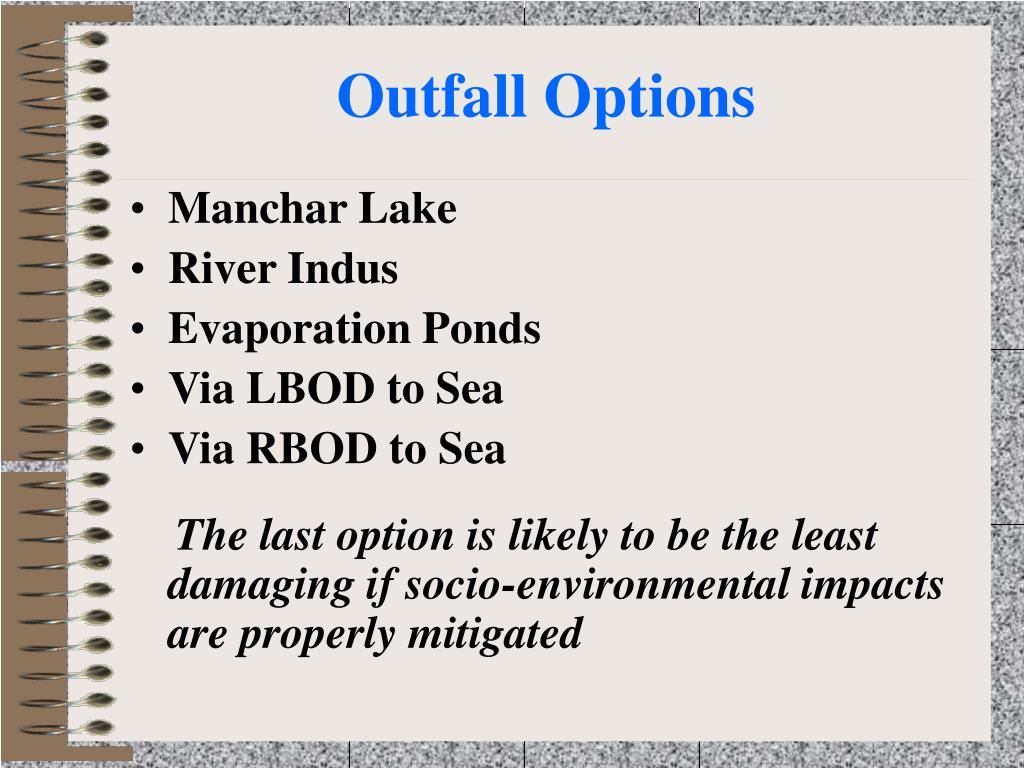 Outfall Options