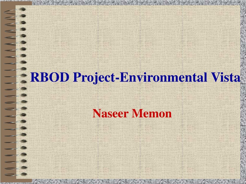 RBOD Project-Environmental Vista