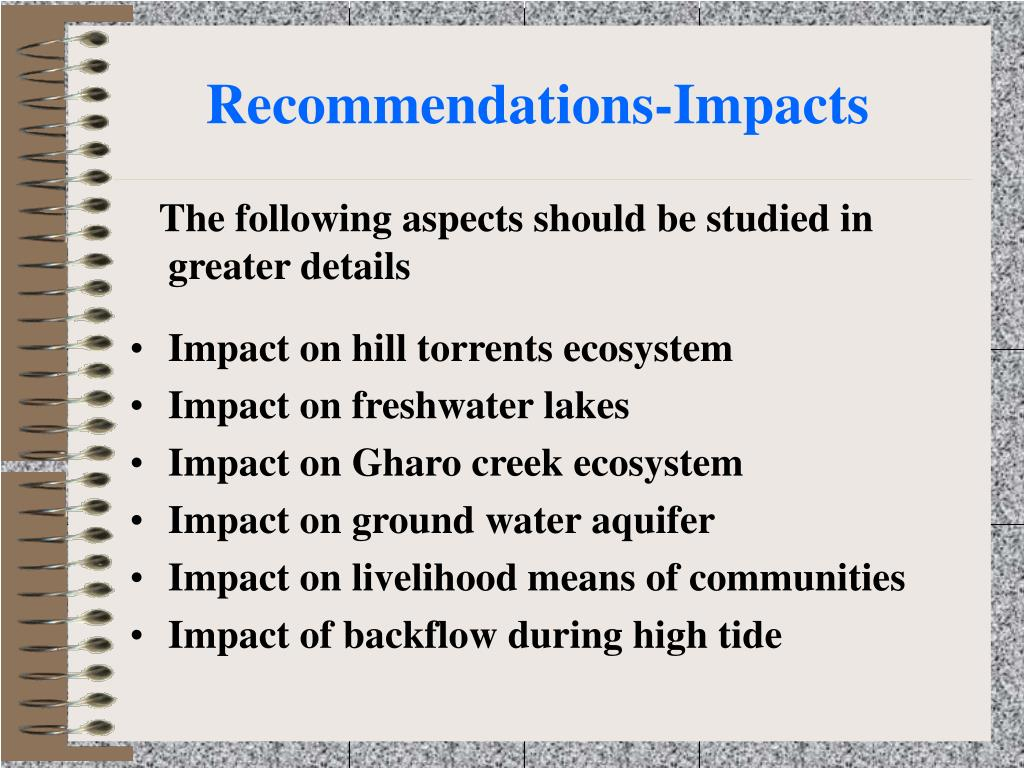 Recommendations-Impacts