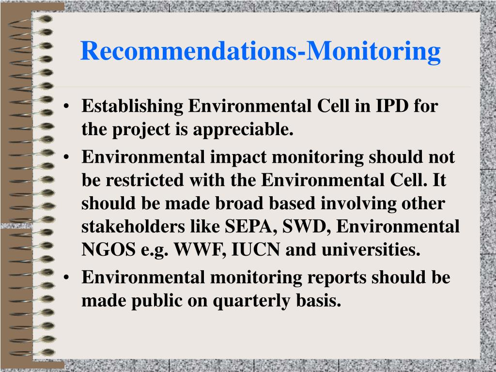 Recommendations-Monitoring