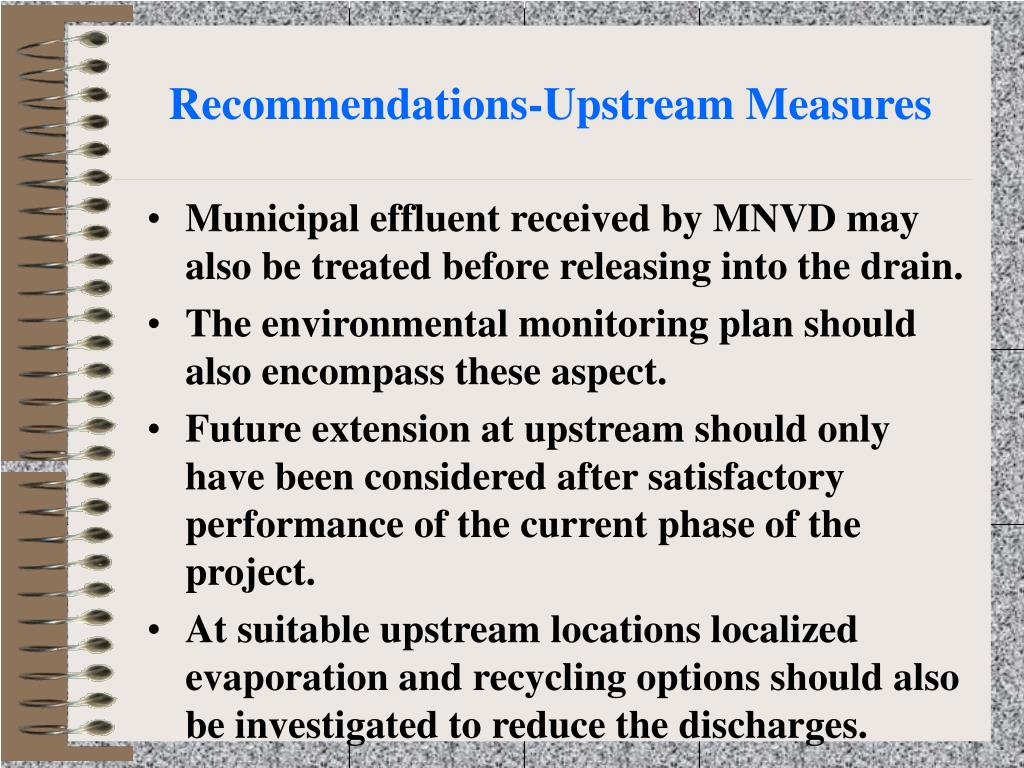 Recommendations-Upstream Measures