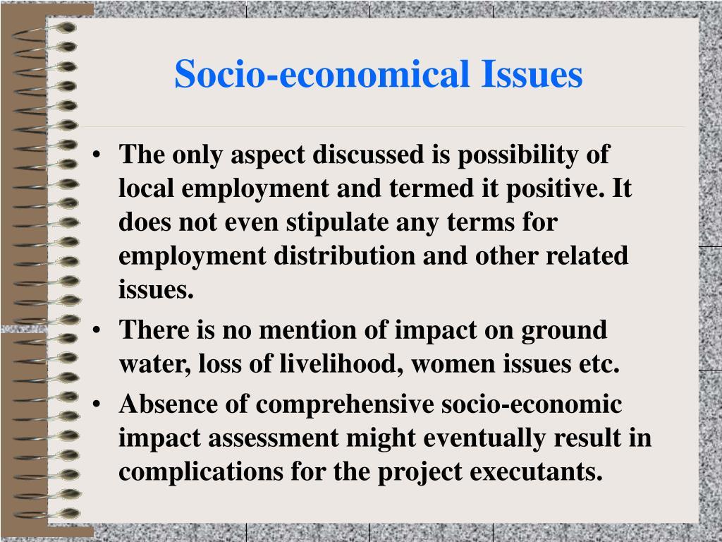 Socio-economical Issues