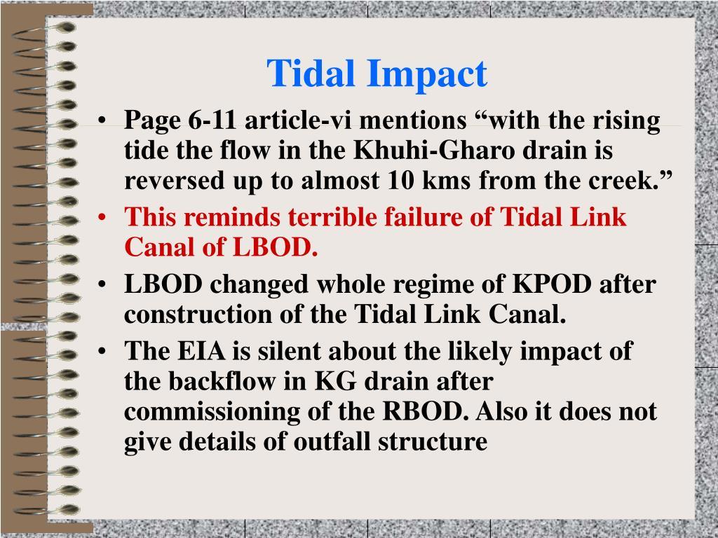 Tidal Impact