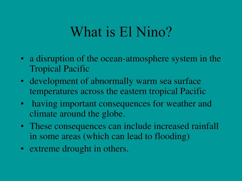 What is El Nino?