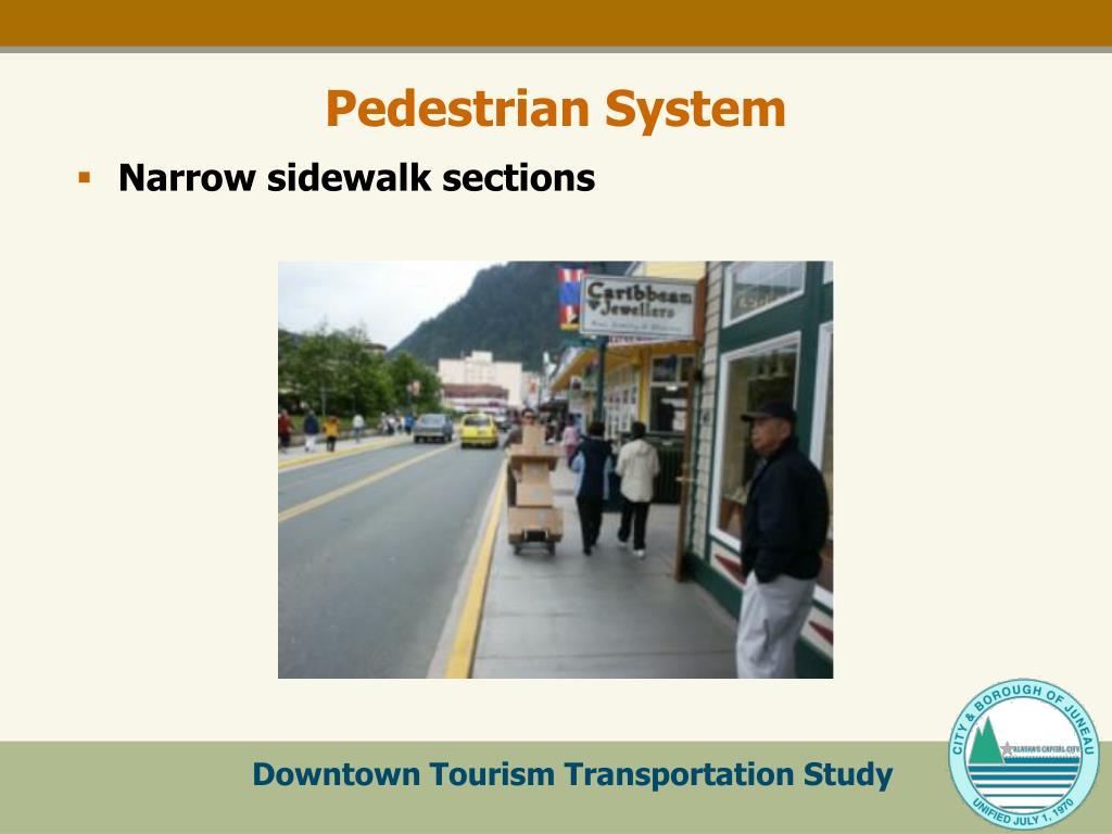 Narrow sidewalk sections