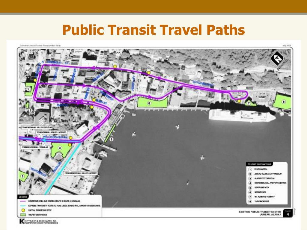 Public Transit Travel Paths