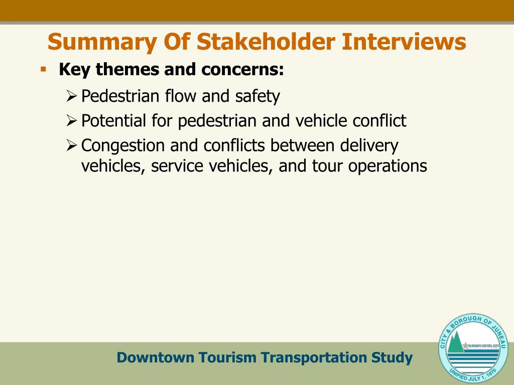 Summary Of Stakeholder Interviews