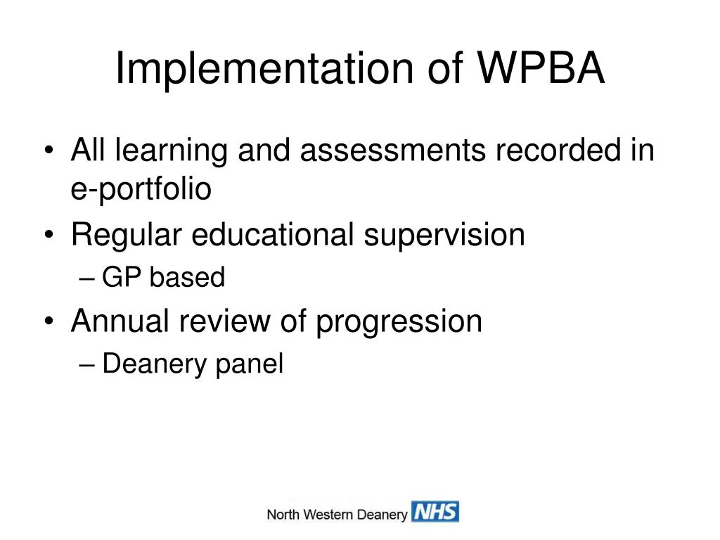 Implementation of WPBA