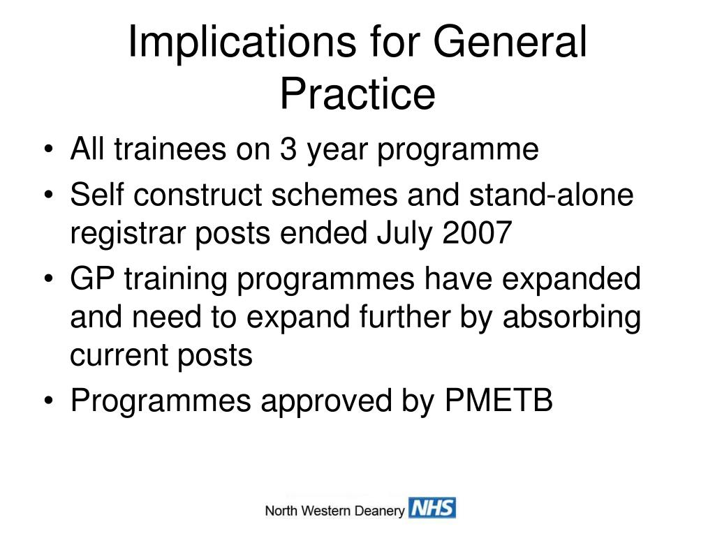 Implications for General Practice