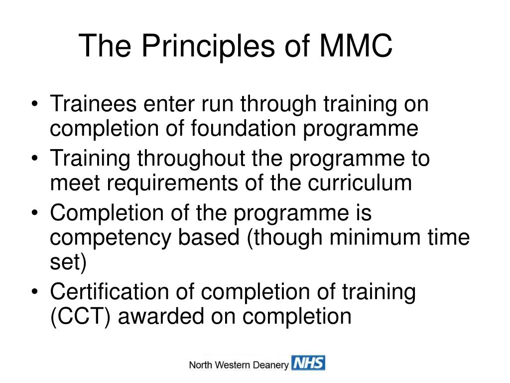 The Principles of MMC