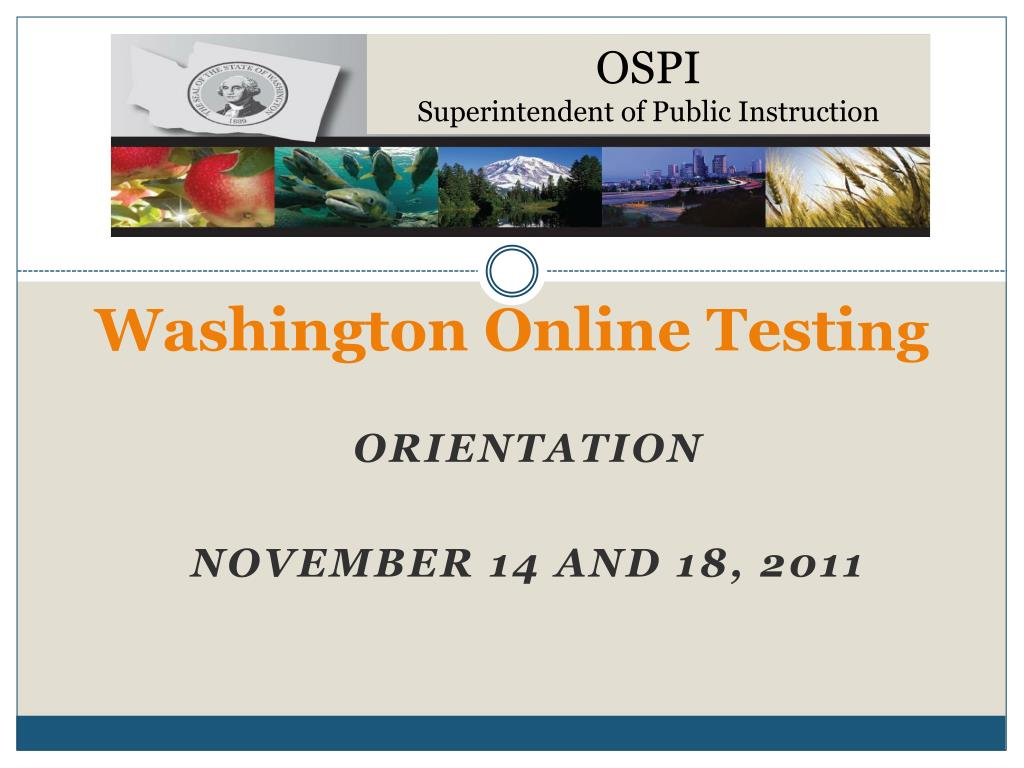 washington online testi ng