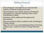 webinar protocol