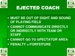ejected coach