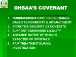 ohsaa s covenant