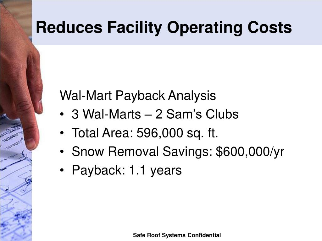 Reduces Facility Operating Costs