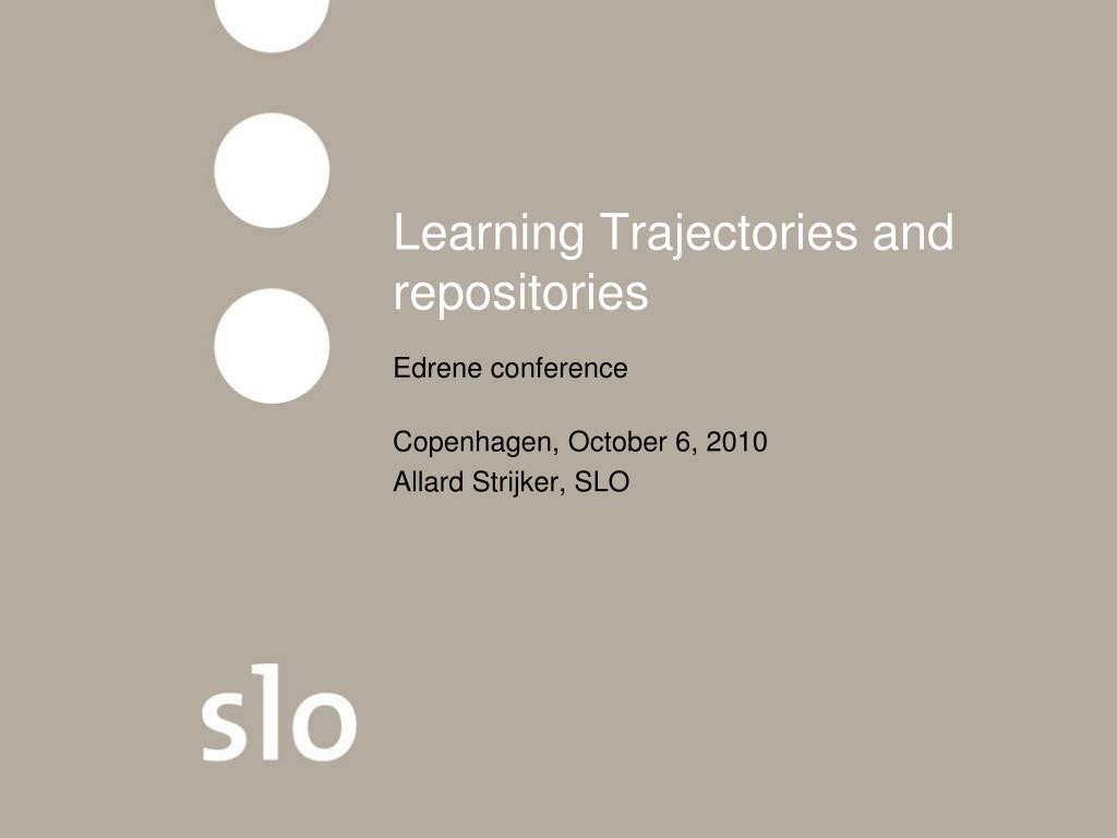 learning trajectories and repositories