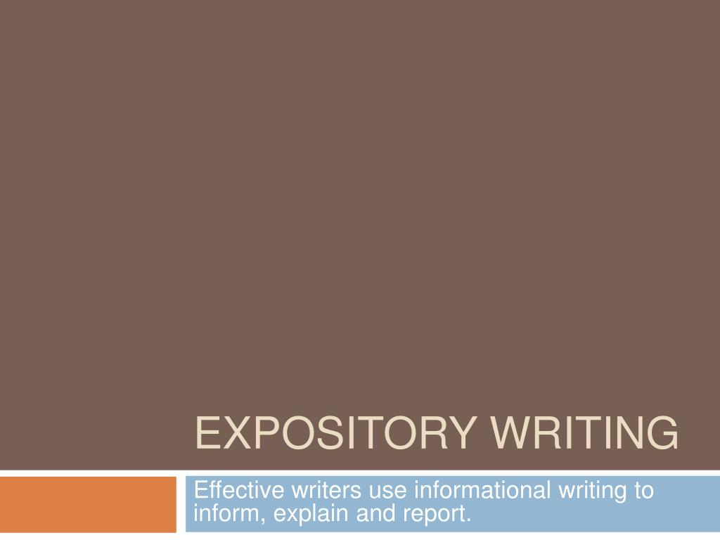expository writing l.