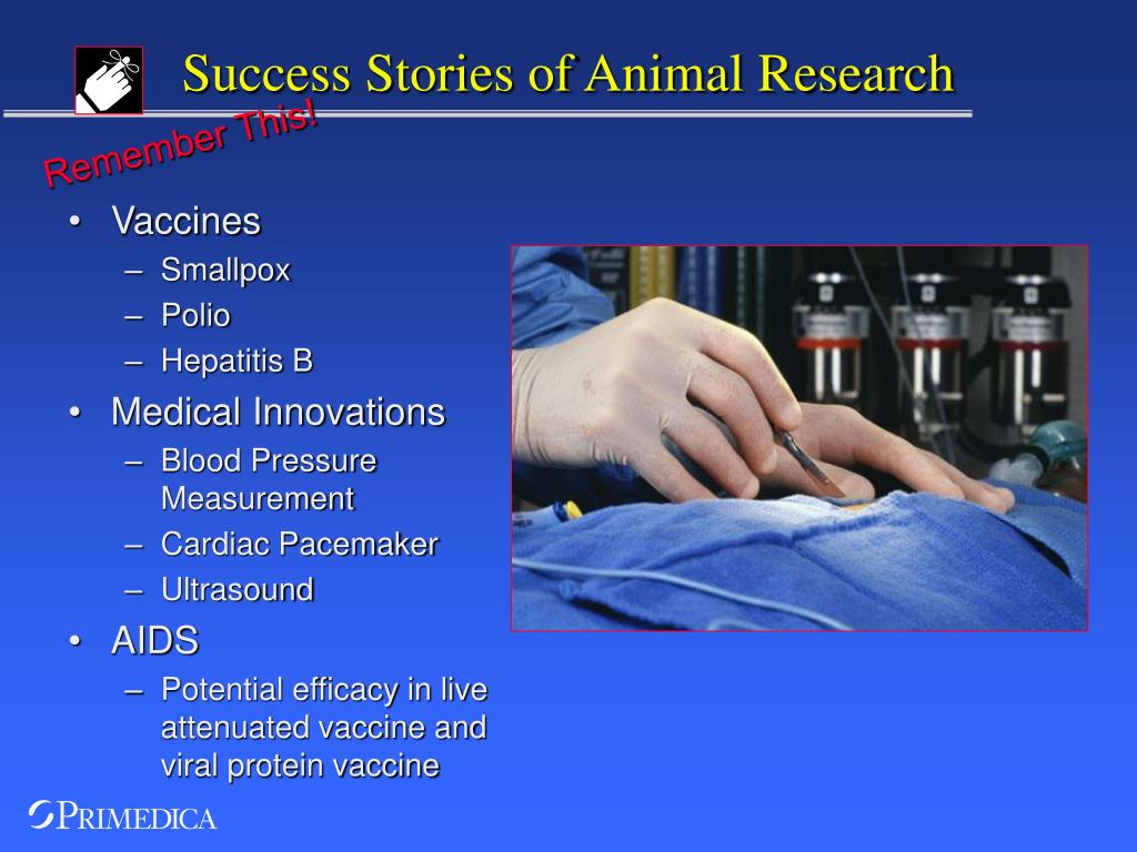 Success Stories of Animal Research