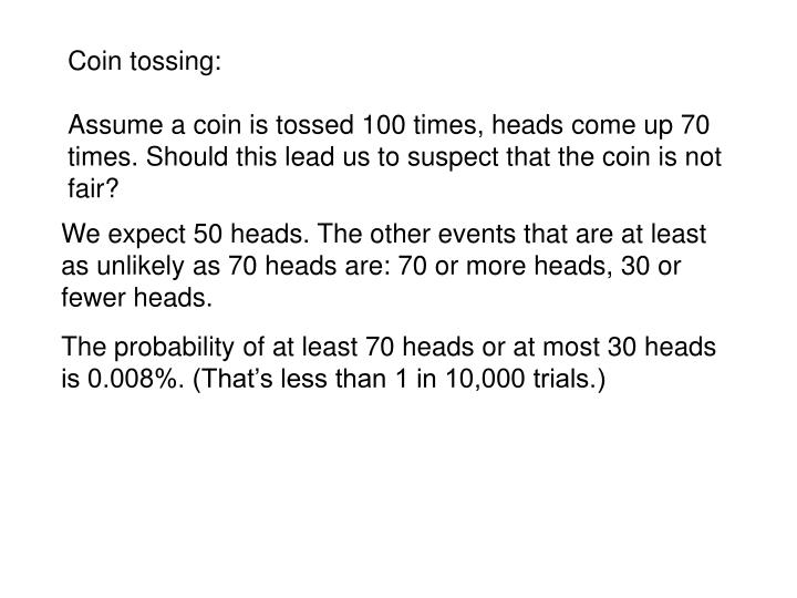 Coin tossing: