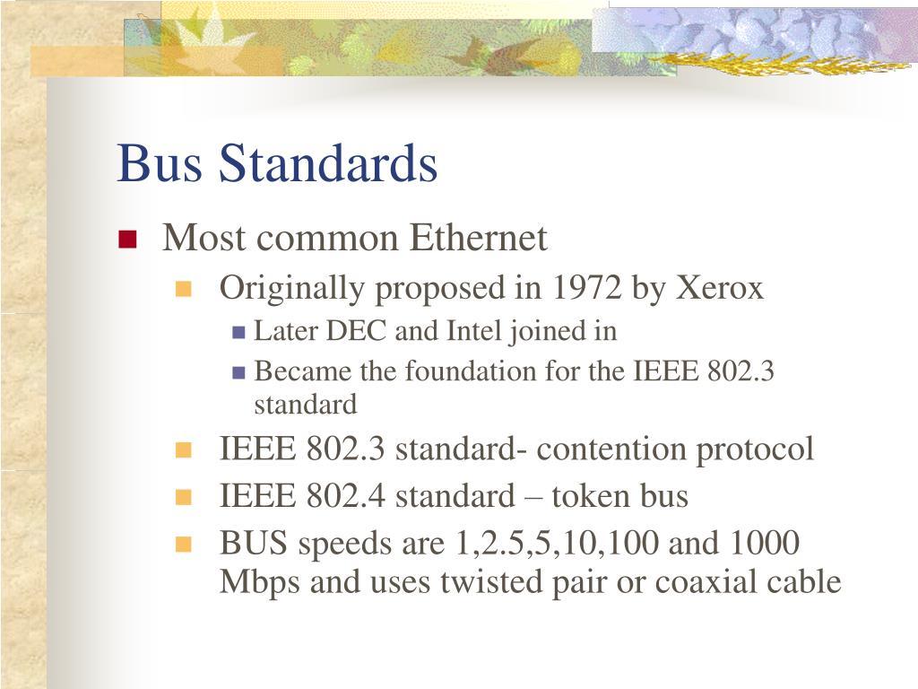 Bus Standards