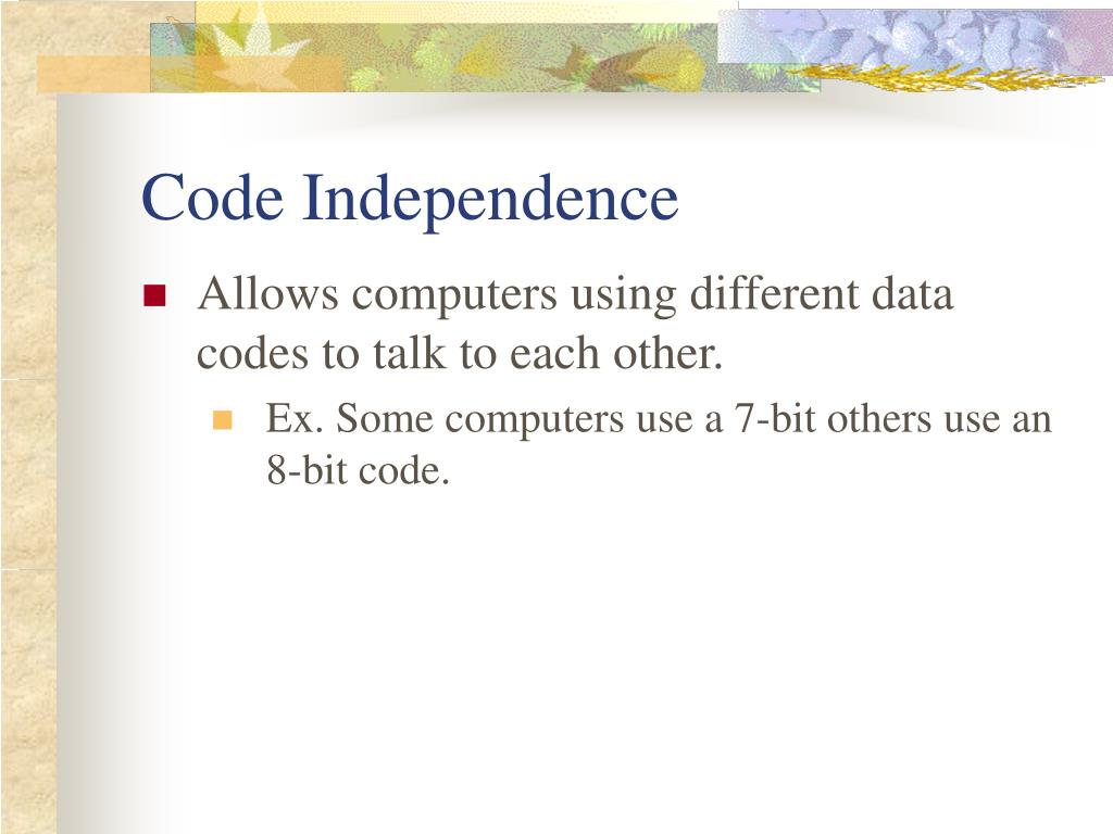 Code Independence