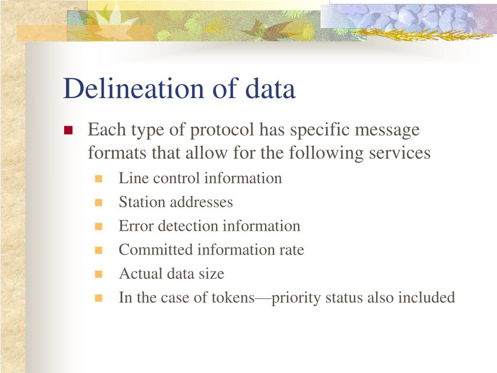 Delineation of data