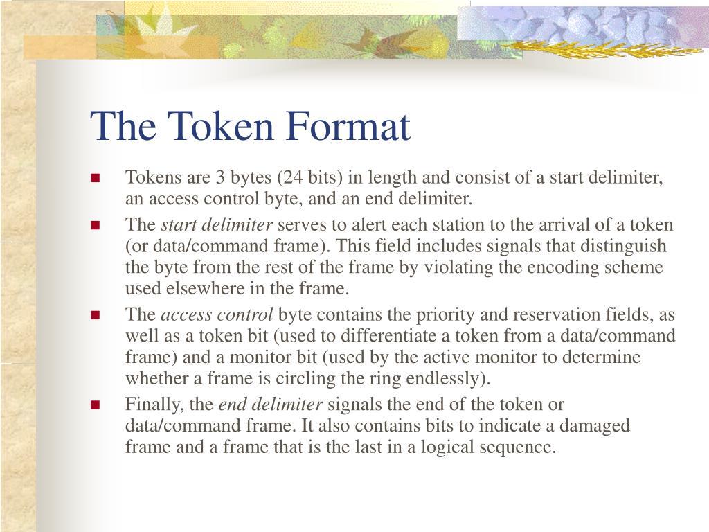 The Token Format