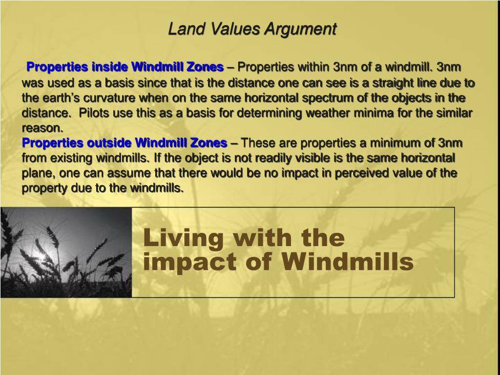 Land Values Argument