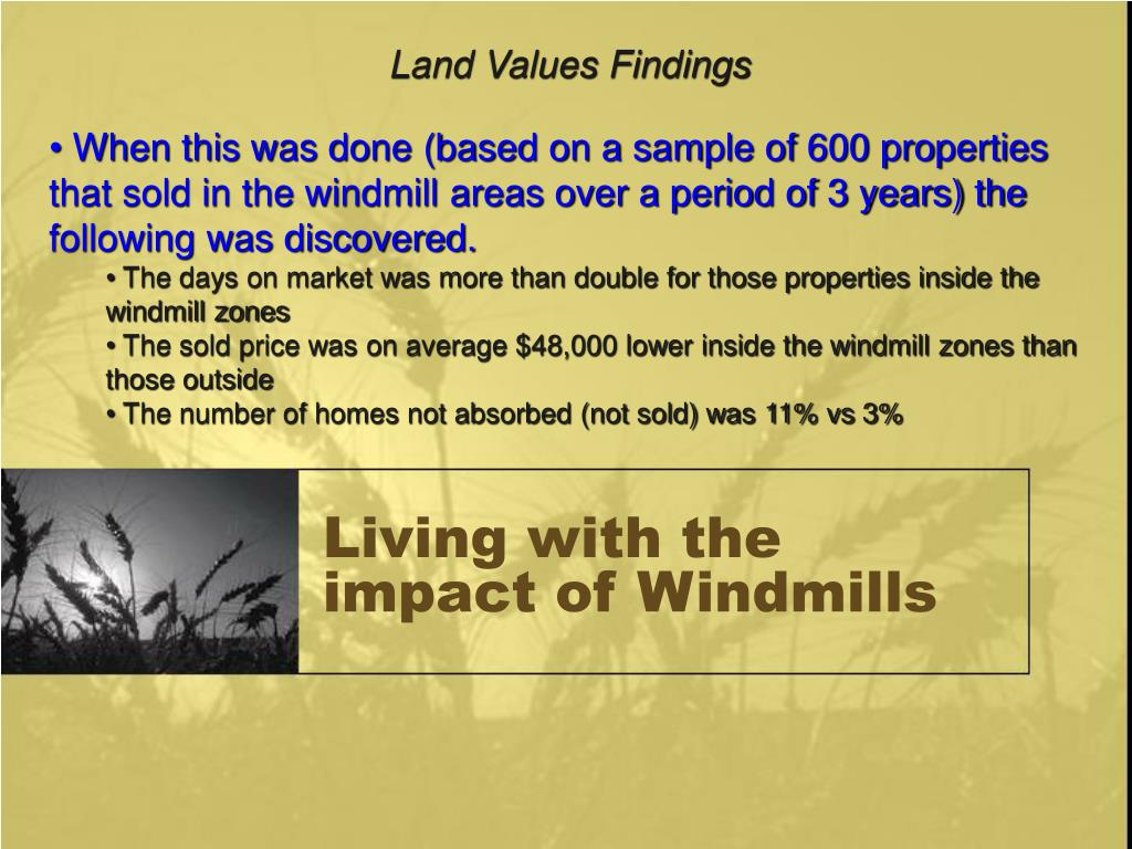 Land Values Findings