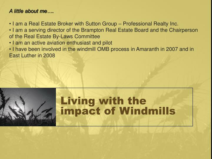 Living with the impact of windmills2