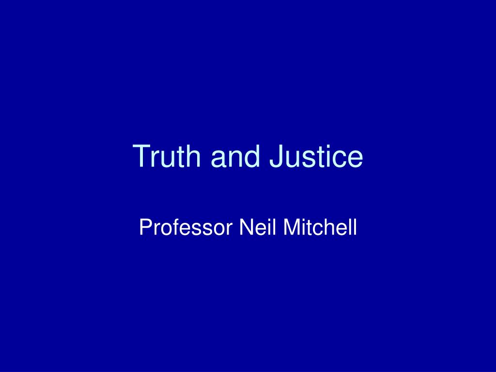 truth and justice l.