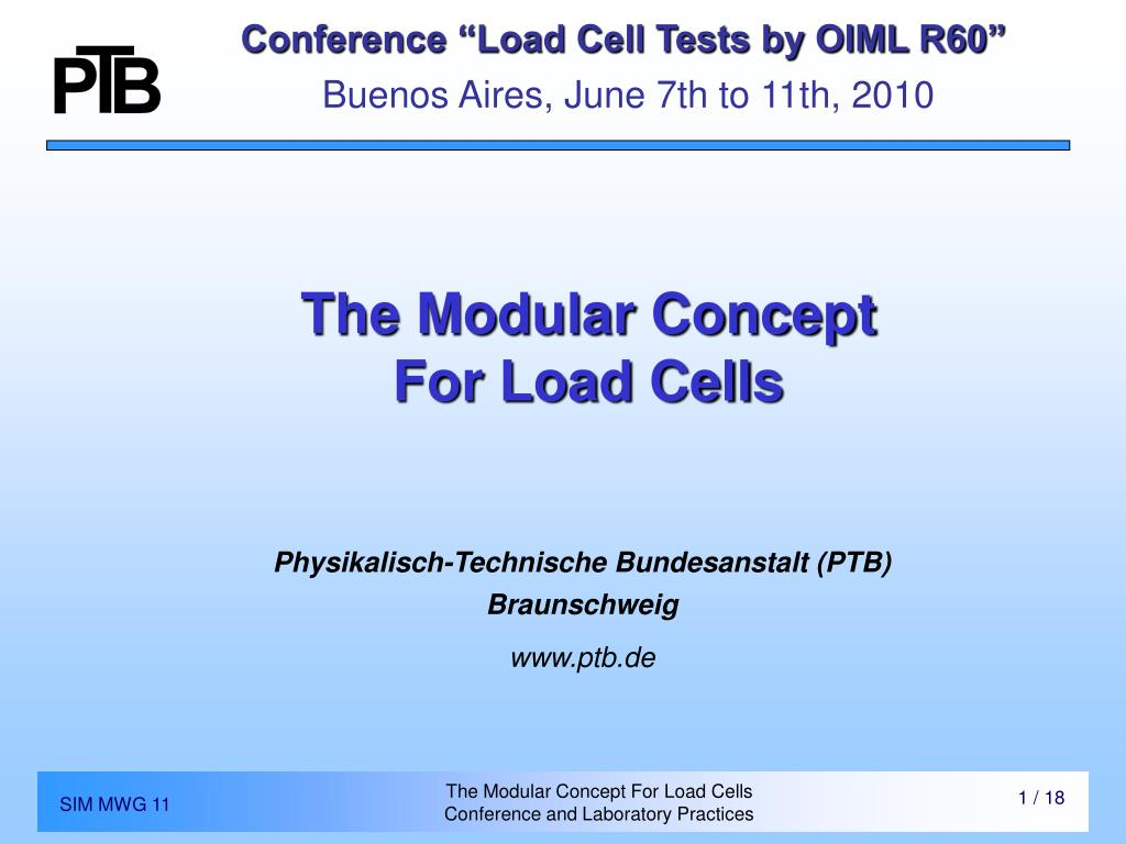 """Conference """"Load Cell Tests by OIML R60"""""""