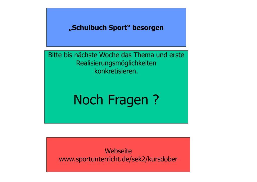 """""""Schulbuch Sport"""" besorgen"""