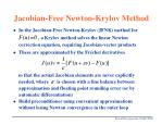 jacobian free newton krylov method