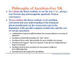 philosophy of jacobian free nk