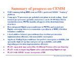 summary of progress on cemm