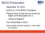 bocc proclamation