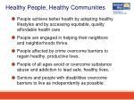 healthy people healthy communities