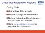 united way recognition programs