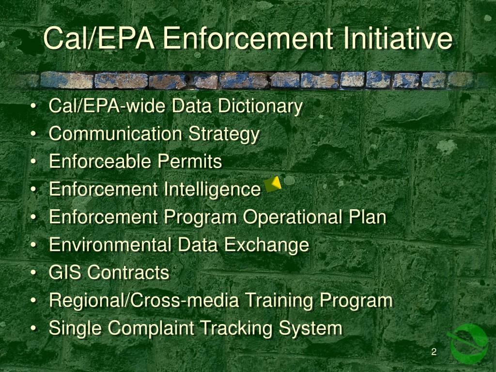 Cal/EPA Enforcement Initiative