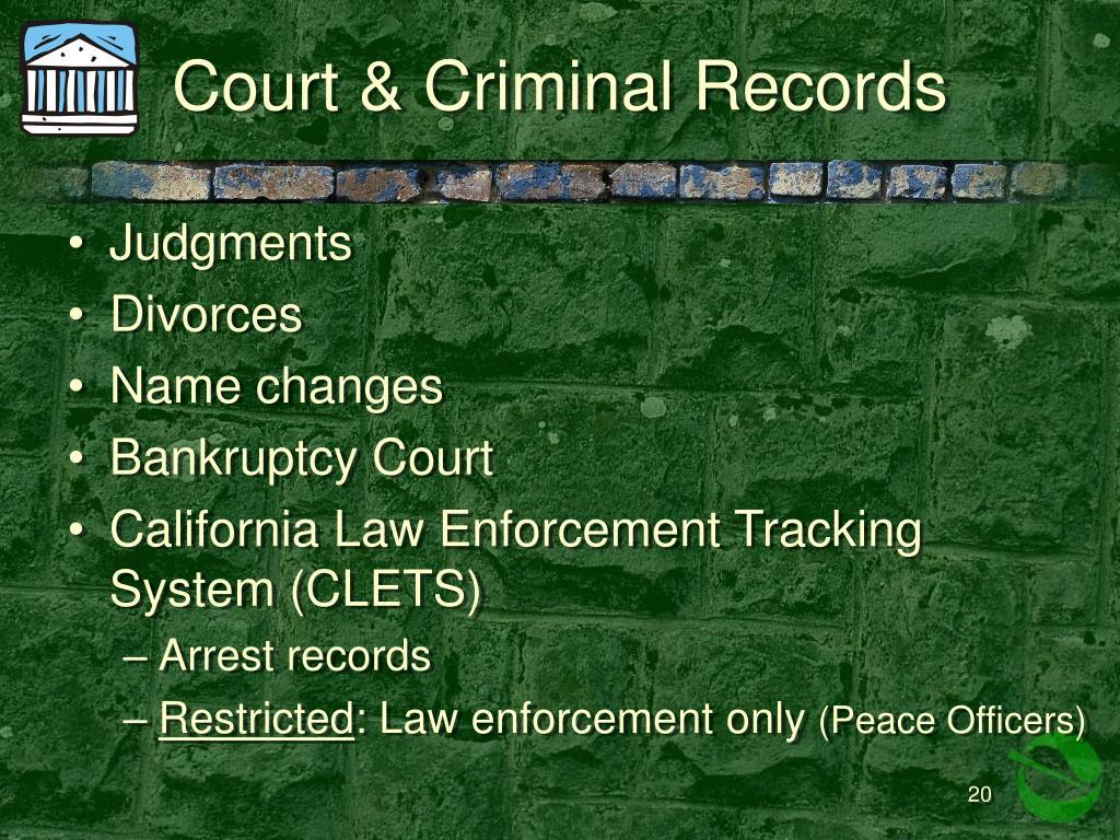 Court & Criminal Records