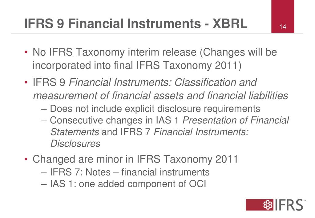 IFRS 9 Financial Instruments - XBRL